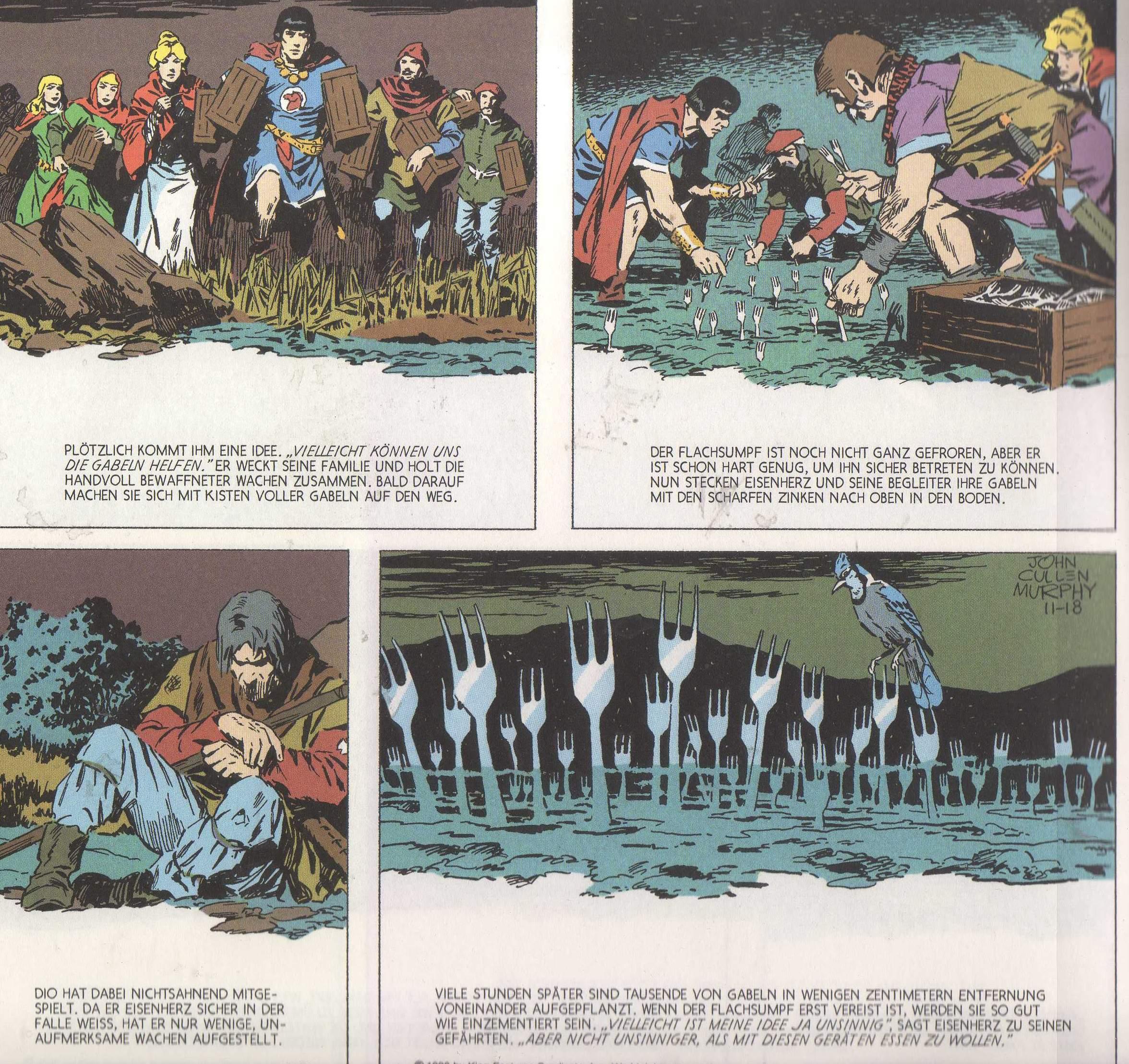 Kochschule comic  Prinz Eisenherz, Jahrgang 1989/1990 - HIGHLIGHTZONE